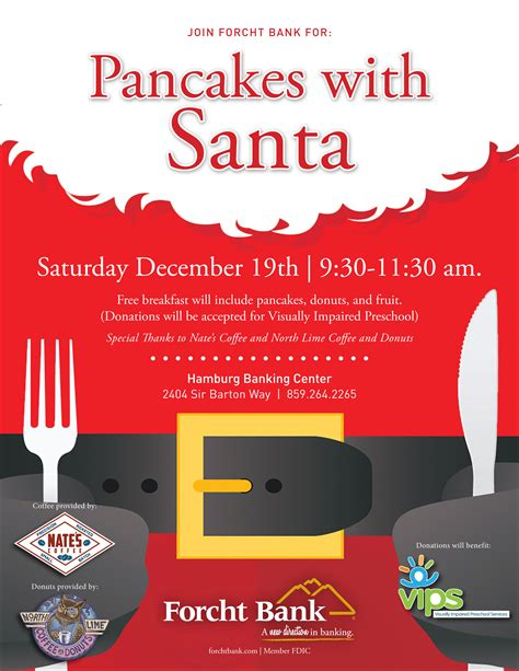 kids pancakes  santa forcht bank