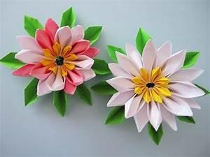 Blumen Aus Papier : blumen aus papier notizzettel selber falten youtube origami 3 pinterest ~ Udekor.club Haus und Dekorationen
