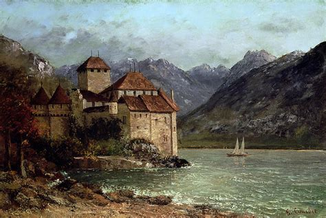 chateau home plans the chateau de chillon painting by gustave courbet