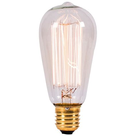 bell lighting 01481 60w clear vintage squirrel cage bulb