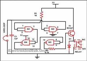 Luggage Security Alarm Project Circuit