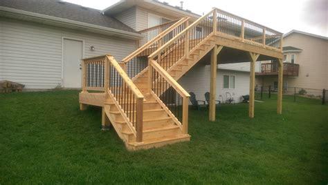 modern staircase railing designs deck stairs minneapolis custom construction