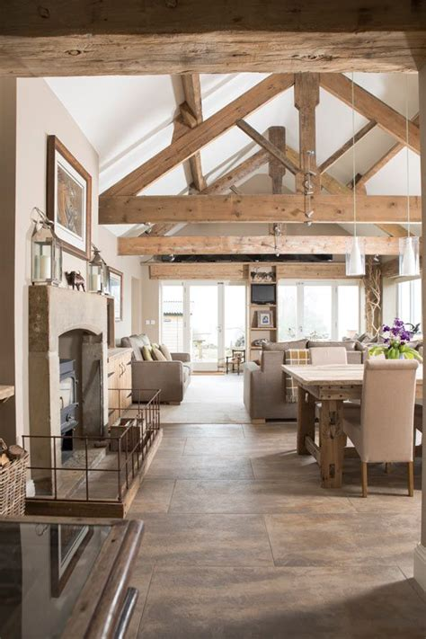 extension  vaulted ceiling  exposed oak trusses