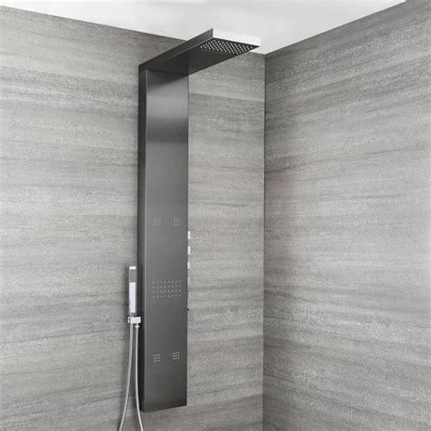 pannello doccia multifunzione pannello doccia antracite metallizzato multifunzione