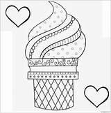 Coloring Ice Cream Pages Printable Dessert Toddler Sheets Cone Print Sandwich Detailed Clipart sketch template