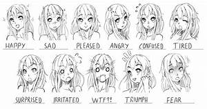 Midokos Expressions by Xunq on DeviantArt | Drawing: Heads ...