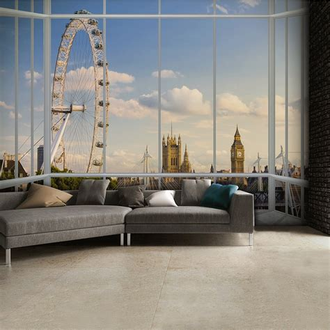 london window scene skyline wall mural cm  cm