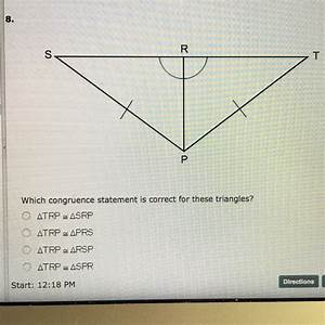 Which Congruence Statement Is Correct For These Triangles