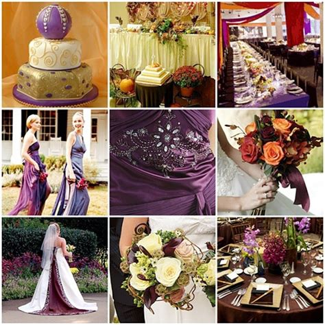 fall wedding board dramatic purple orange here s a colo flickr