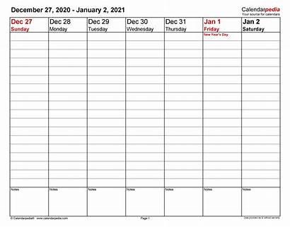 Calendar Weekly Planner Printable Excel Template Calendars