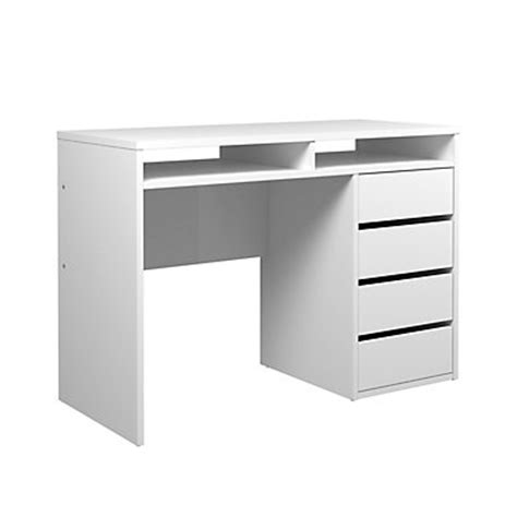 bureau blanc laqué pas cher meuble bureau et ordinateur pas cher but fr