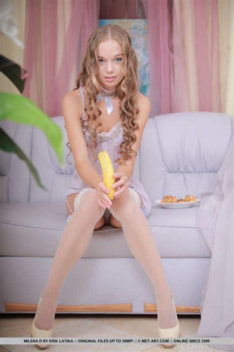 Milena In White Stockings