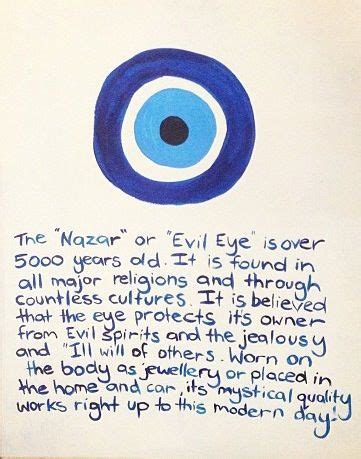 Another description of the Evil Eye. Many people will wear ...