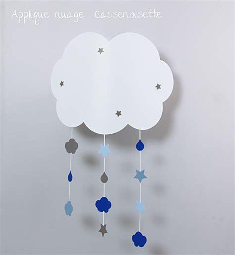 suspension luminaire chambre bébé applique nuage bb pour rver fabrique casse noisette