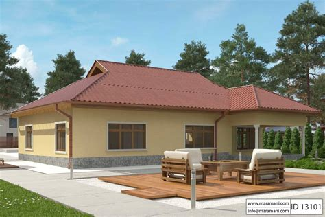 3 Bedroom House Plan ID 13101 House Designs by Maramani