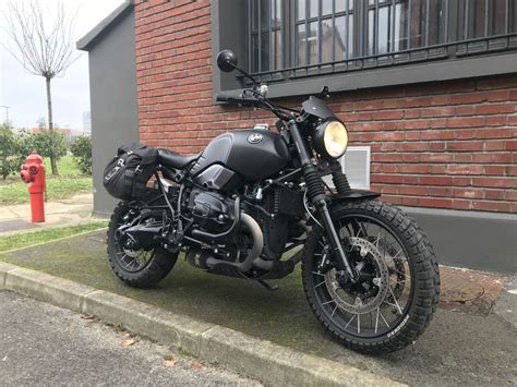 Bmw R Nine T Scrambler Modification by Bootlegger Bmw R Ninet Scrambler Black Par Modification