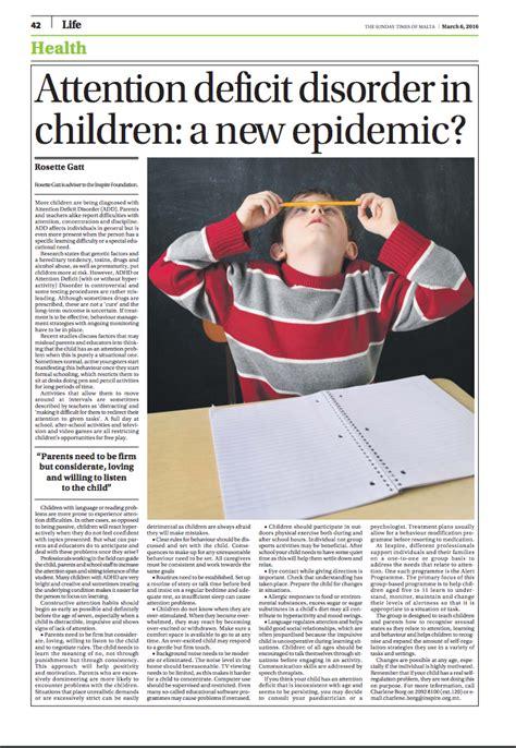 attention deficit  children   epidemic inspire