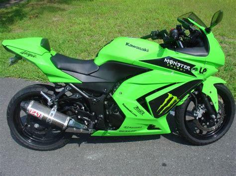 Buy 2008 Kawasaki Ninja 250 R Lime Green W/ Monster Gfx On