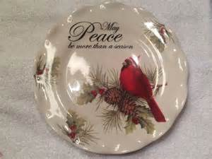 Cracker Barrel Cardinal Christmas Plate-May Peace be more ...