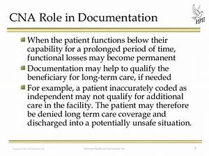 Cna Charting Samples Of Good Nursing Documentation In Long Term Care
