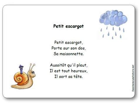 comptine petit escargot paroles illustr 233 es 224 imprimer