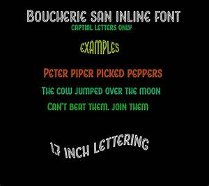outdoor vinyl lettering boucherie inline font name decal With outdoor vinyl letter stickers