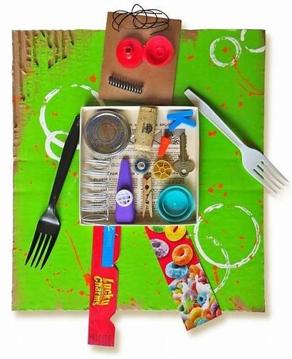 Recycled Robot Craft Loose Parts