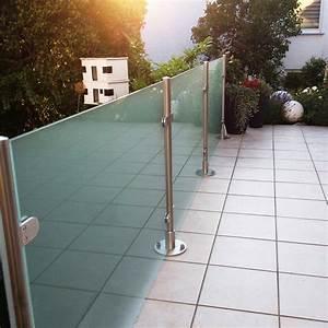 glaszaun transvent als sichtschutz im garten glasprofi24 With französischer balkon mit günstiger sichtschutz für gartenzaun