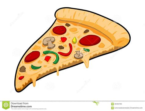 A Slice Of Pizza Stock Vector