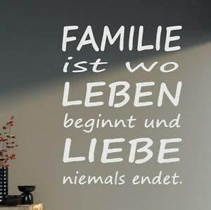 Wandtattoo Sprüche Familie : wandtattoo spruch xxl familie leben liebe spr che wohnzimmer 80x48cm b340 ebay ~ Frokenaadalensverden.com Haus und Dekorationen