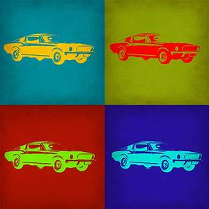 Ford Mustang Pop Art 1 Painting by Naxart Studio