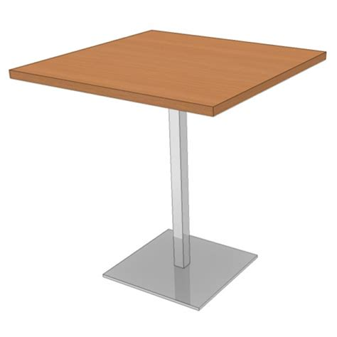 table carr 233 e avec pied central table mange debout carr 233 e mobilier stock