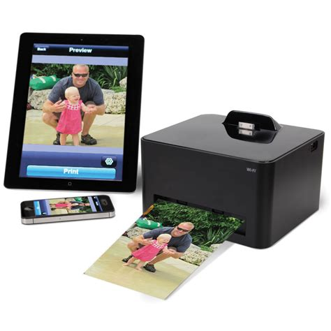 iphone photo printer the wireless iphone photo printer hammacher schlemmer
