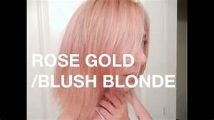 Rose Gold Sprühlack : demo rose gold blush blonde pastel pink hair youtube ~ A.2002-acura-tl-radio.info Haus und Dekorationen