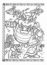 Coloring Pages Nintendo Bowser Mario Neighborhood Super Map Colouring Printable Brothers Bros Sheets Power Popular Snes Easy Drawings Coloringhome sketch template