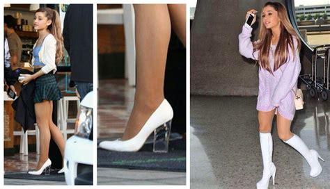 ariana grande feet shoe size  shoe collection