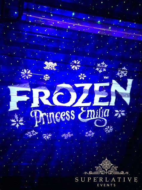 frozen theme party lighting rental transformation