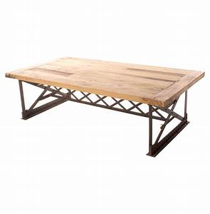 riveter39s industrial modern chunky wood coffee table With wood chunk coffee table