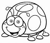 Ladybug Coloring Cartoon Drawing Lady Pages Bugs Bug Printable Cool Miraculous Template Base Fresh Coccinelle Blank Coloriage sketch template
