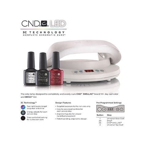 Cnd Shellac Led L Uk cnd creative nail design led l for shellac brisa pre