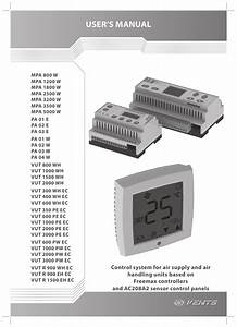 User U0026 39 S Manual  U0026quot Control System For Air Supply And Air