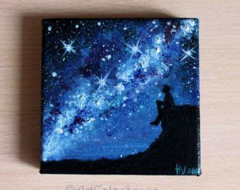Couple Love Art Milky Way Painting Space