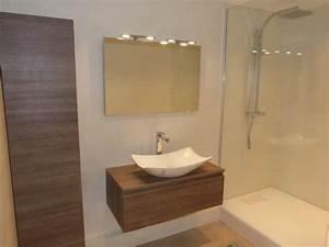 beton cire sur carrelage salle de bain a quimper artisan With beton cire mur salle de bain