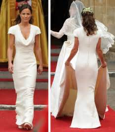 Pippa Middleton's Dridesmaid Dress for the British Royal Wedding Vintage Covered Button Short Sleeve Cowl Neck Gowns