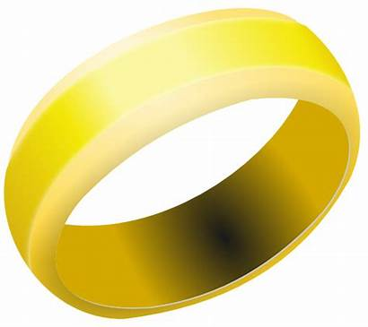 Gold Clipart Band Ring Clip Clker Transparent