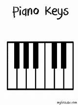 Piano Keys Keyboard Key Clipart Clip Coloring Teaching Printable Wavy Template Note Colouring Paino Learn Sketch Abcteach Reading Worksheets Memorize sketch template