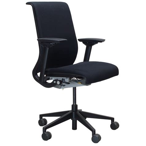 chaise steelcase steelcase think used task chair black national office