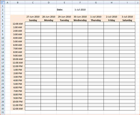 Hourly Work Schedule Template by 3 Hourly Calendar Bookletemplate Org