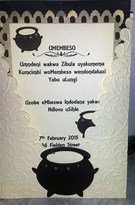 traditional zulu invitation umembeso copyright With african traditional wedding invitations templates free
