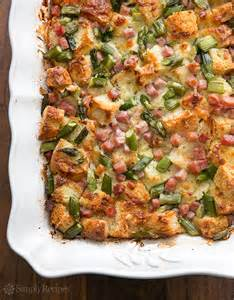 Ham and Asparagus Strata